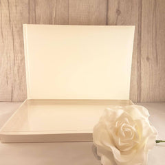 Plain/Blank Guest Book (Ivory)