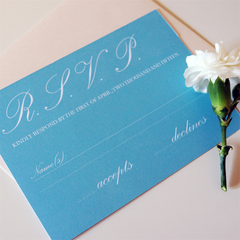 Earl Grey Rose RSVP Cards - RSVP - Tamsin Yates Wedding Stationery - About to be Hitched