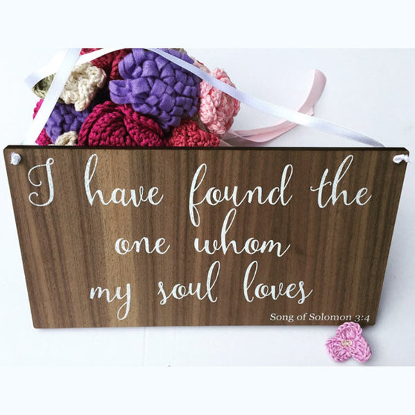 Wooden Song of Solomon Biblical Verse Sign