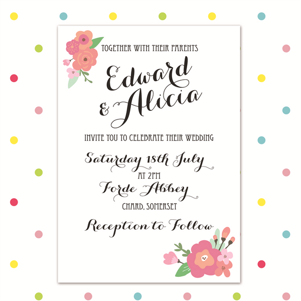 Pretty in Pink - Invite - Wedding Invitation - Forever Lasting Invites - About to be Hitched
