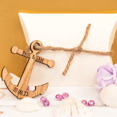 Nautical Themed (Anchor) Wedding Favours / Table Decorations (wooden)