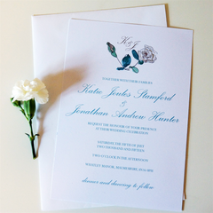 Earl Grey Rose Wedding Invitations - Wedding Invitation - Tamsin Yates Wedding Stationery - About to be Hitched