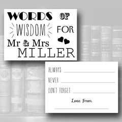 Love Story – Words of Wisdom Advice Cards