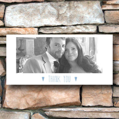 And then I met you (Airy Blue) – Photo Thank You Card