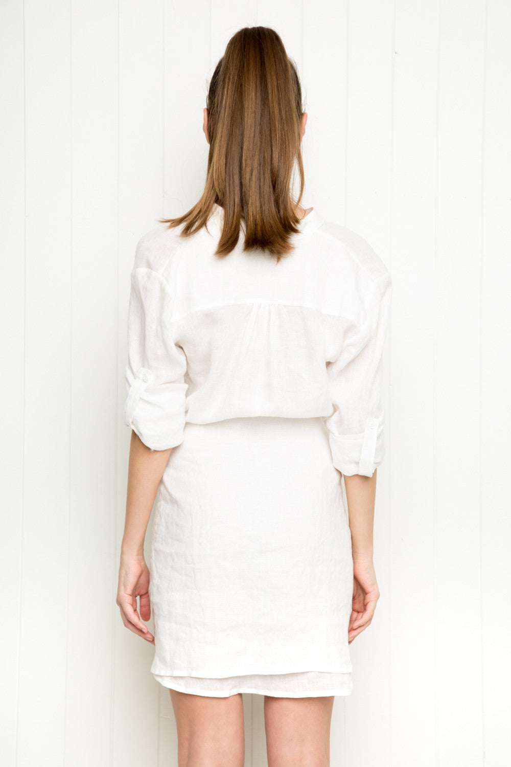 Bijoux Dress - White Linen