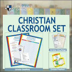 HONORABLE CHARACTER™ Classroom Sets for CHRISTIAN SCHOOLS