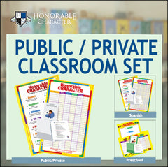 HONORABLE CHARACTER™ Classroom Sets for PUBLIC/PRIVATE SCHOOLS