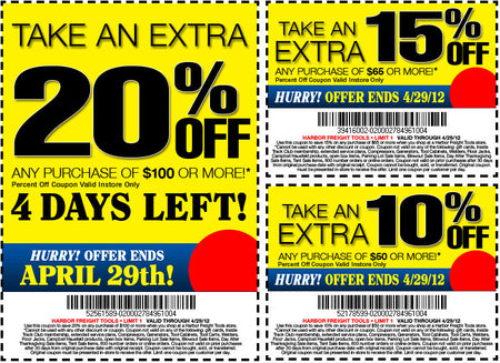 Harbor Freight Coupons! 20% off