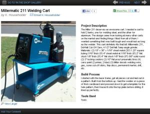 Welder Cart Featured on www.Millerwelds.com