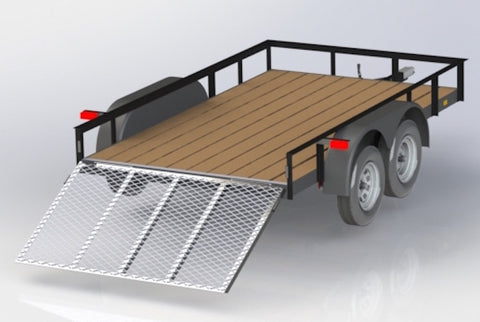 12 FT TRAILER with Dual Axle - Welding Plans