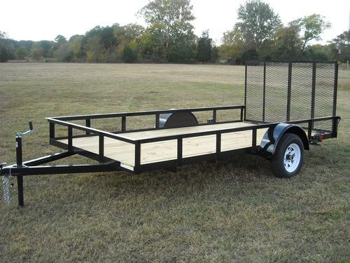 6.5 x 12 ft Utility Trailer Plans - Single Axle