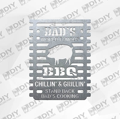 Dad's World Famous BBQ Plasma Laser DXF Cut File