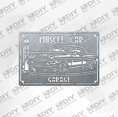Muscle Car Garage - DXF File Only