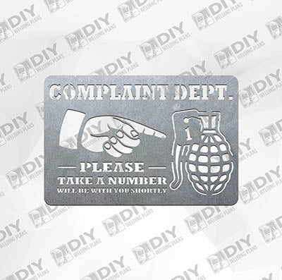 Complaint Dept - DXF File Only