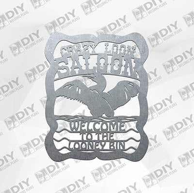 Crazy Loon Saloon Plasma Laser DXF Cut File