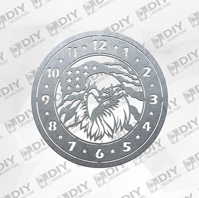 Eagle Clock - Plasma Laser DXF Cut File