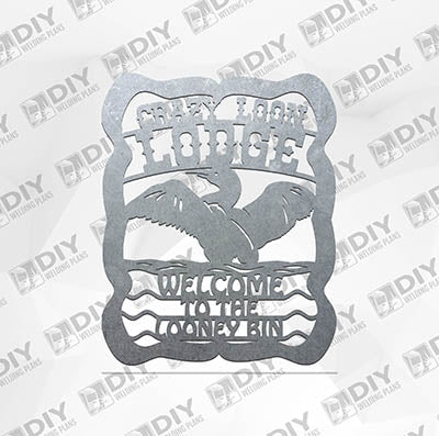 Crazy Loon Lodge Plasma Laser DXF Cut File