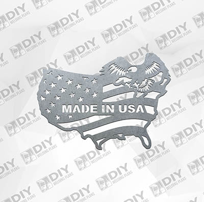 Made in USA - Eagle -  Plasma Laser DXF Cut File