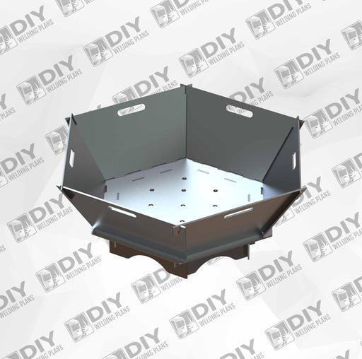 "26"" Hexagon slide together fire pit- Plasma Laser DXF Cut File"