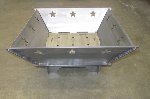 Square Texas Star Fire Pit 22 inch - Plasma Laser DXF Cut File