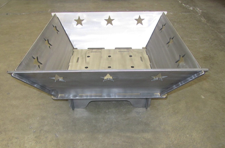 Square Texas Star Fire Pit 22 Inch Plasma Laser Dxf Cut