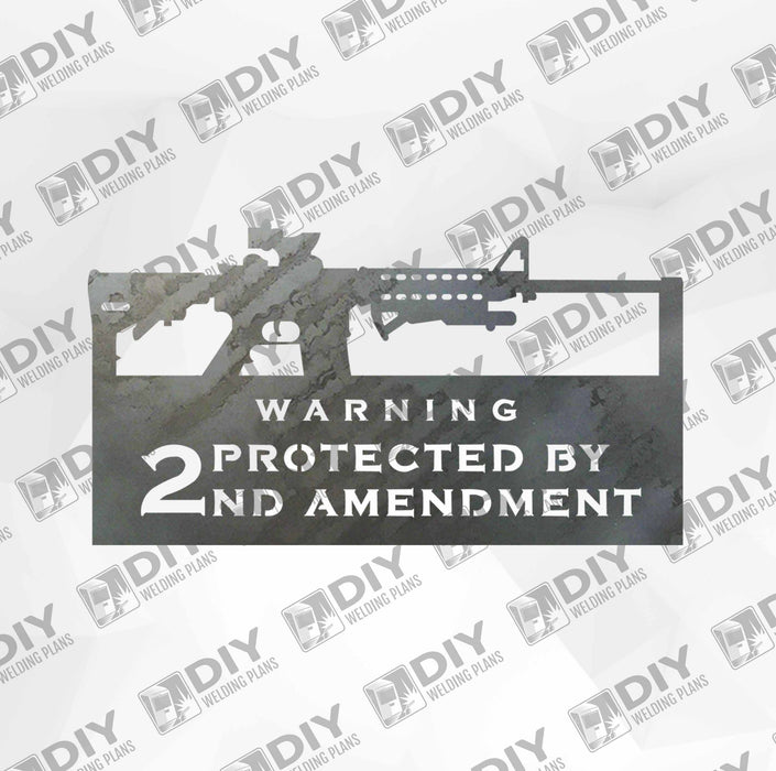 2nd Amendment Sign 10 DXF Plasma File