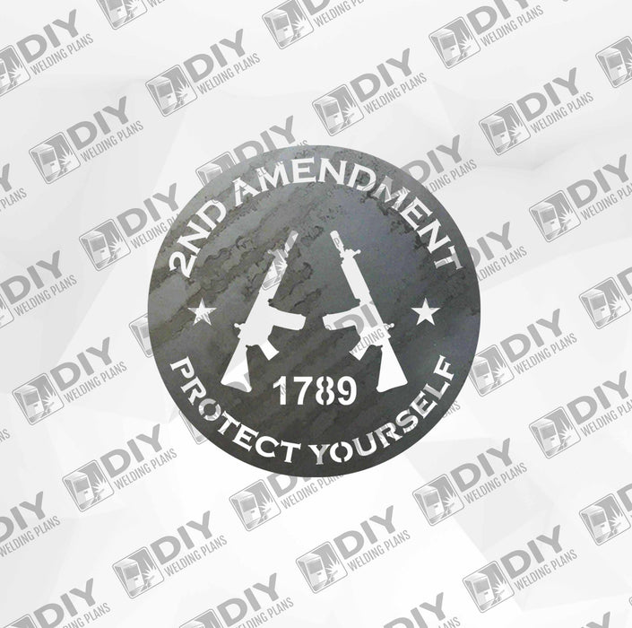 2nd Amendment Sign 15 DXF Plasma File