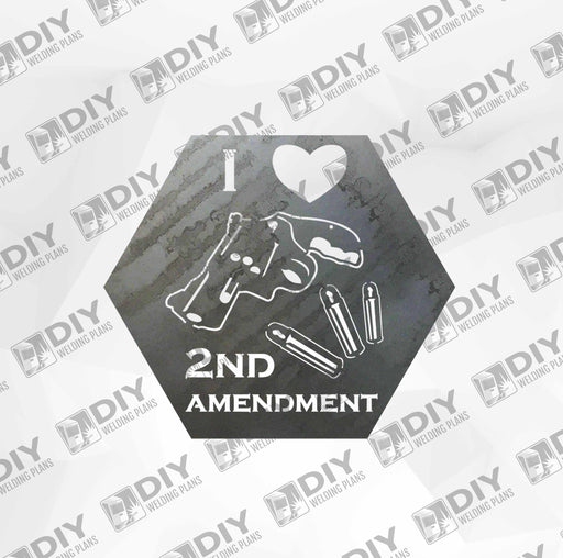 2nd Amendment Sign 17 DXF Plasma File