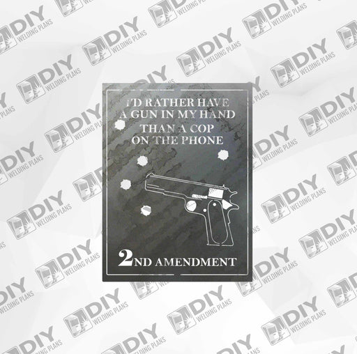2nd Amendment Sign 1 DXF Plasma File