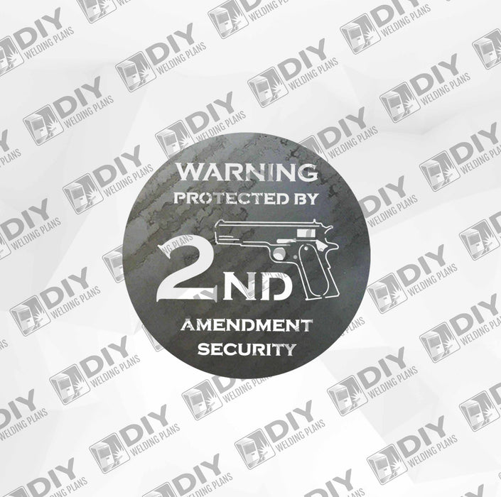2nd Amendment Sign 3 DXF Plasma File