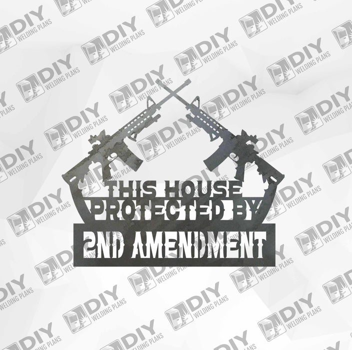 2nd Amendment Sign 7 DXF Plasma File