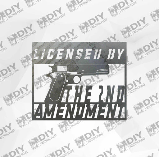 2nd Amendment Sign 8 DXF Plasma File