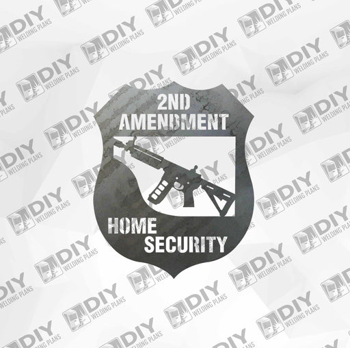 2nd Amendment Sign 9 DXF Plasma File
