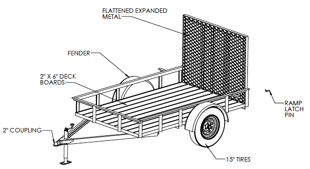 5 X8 Utility Trailer Welding Plans Diy Welding Plans