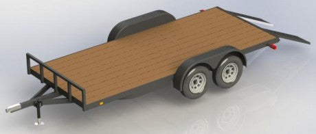 Flat Bed Trailer Plans 8′ x 16′ (wooden deck)