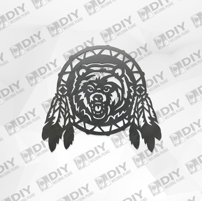 Bear Dream Catcher - DXF File Only