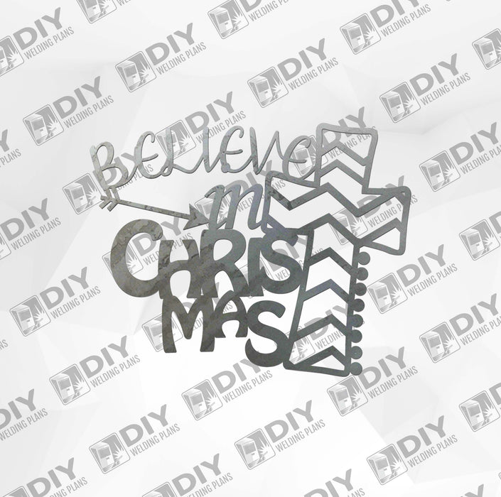 Believe in Christmas DXF Plasma File