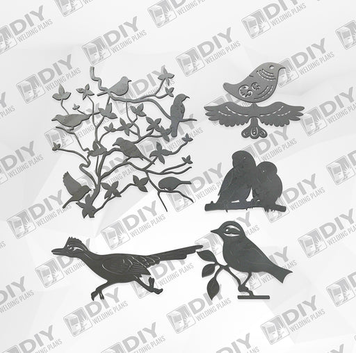 Bird Bundle Pack 5 - DXF File Only