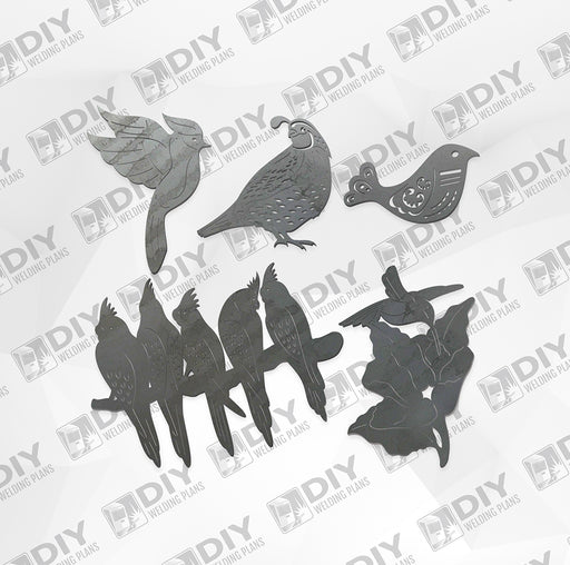 Bird Bundle Pack 6 - DXF File Only