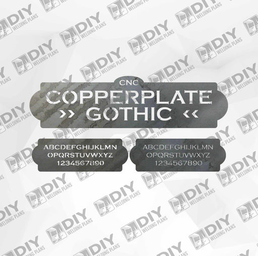 CNC Font - Copperplate Gothic Font - Custom Font for CNC