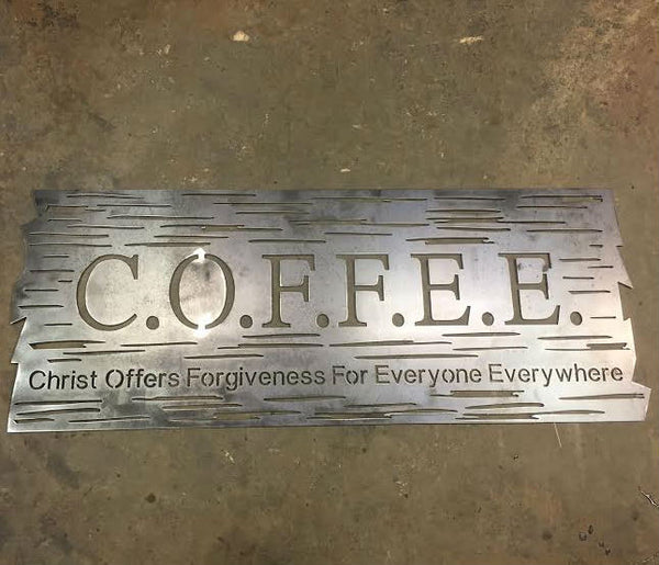 Coffee Wood Plank Plasma Laser Dxf Cut File Diy Welding