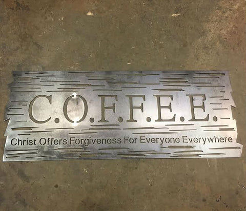 Coffee Wood Plank Plasma Laser DXF Cut File