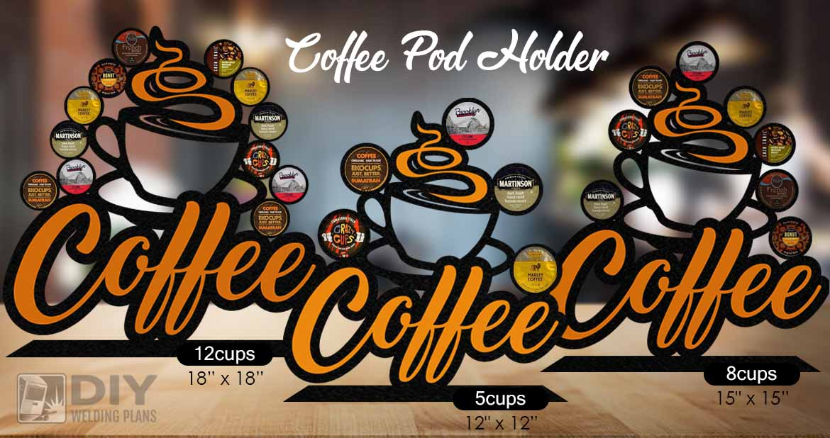 K-Cup Coffee Pod Holder in 3 sizes - DXF File Only