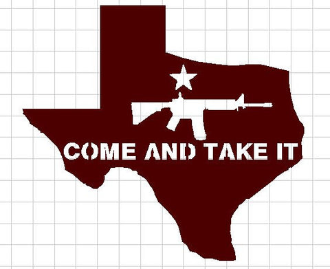 "Texas ""Come and Take It"" AR 15 - DXF File Only"
