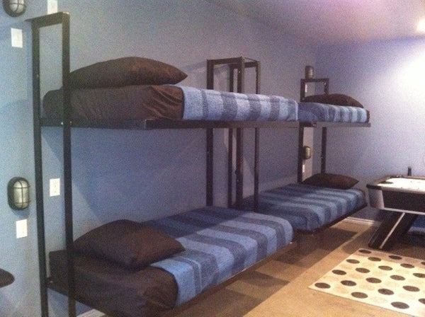 Folding Bunk Bed Plans – DIY Welding Plans