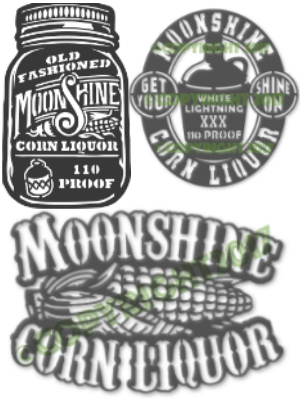 3 Moonshine files - Shine On Moonshine Jug Corn Liquor x3 Plasma Laser DXF Cut File