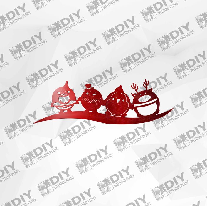 Cute Christmas Character DXF Plasma File