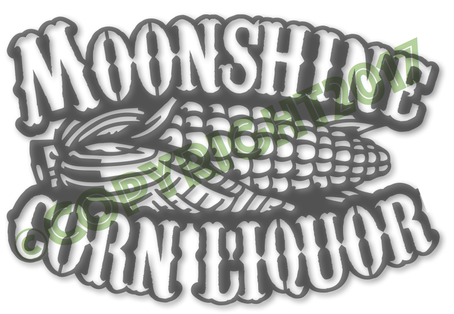 Moonshine Corn Liquor - Plasma Laser DXF Cut File
