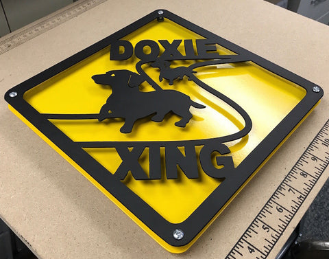 Doxie Crossing Sign DXF Plasma File
