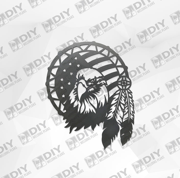 Eagle Dream Catcher - DXF File Only